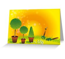Summer Topiary Greeting Card