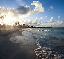 Caribbean sunset by Tom Prokop