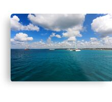 Catamarans in Caribbean sea Metal Print