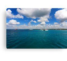 Catamarans in Caribbean sea Canvas Print
