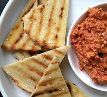 Muhammara - Red Pepper, Walnut & Pomegranate Dip  by MsGourmet