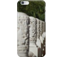 White Dragon Temple Posts iPhone Case/Skin