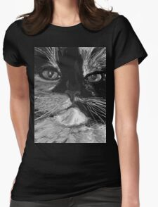 angry cat Womens Fitted T-Shirt