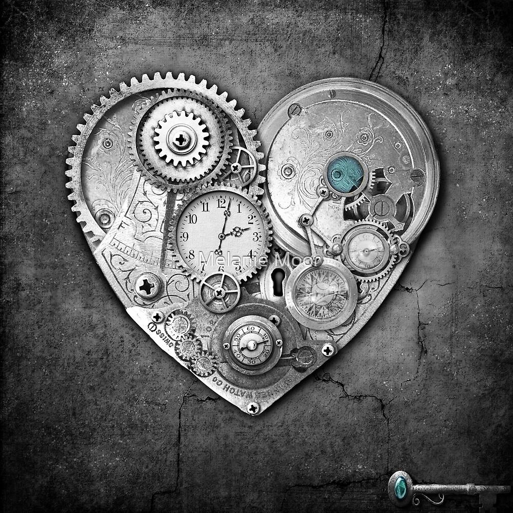 new steampunk heart by Melanie Moor