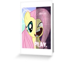 Two Sides - Fluttershy Greeting Card