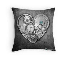 new steampunk heart Throw Pillow