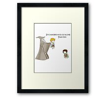 It's Dangerous to Go Alone. Take this. Framed Print