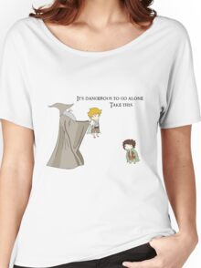 It's Dangerous to Go Alone. Take this. Women's Relaxed Fit T-Shirt