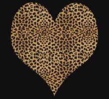 Cheetah Heart T-Shirt by simpsonvisuals
