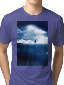 There is a man who lives on a cloud. Tri-blend T-Shirt