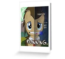 Two Sides - Doctor Whooves Greeting Card