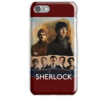 Sherlock Cast Portraits iPhone Case/Skin