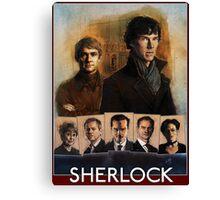 Sherlock Cast Portraits Canvas Print