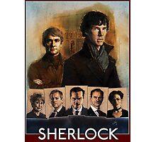 Sherlock Cast Portraits Photographic Print