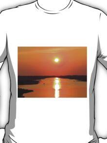 Sunset From The Oak Island Bridge T-Shirt