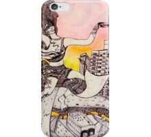 Tattooed Girl on a Flying Carpet  iPhone Case/Skin