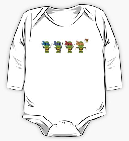 TMNT Chibis  One Piece - Long Sleeve