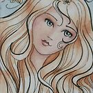 "ACEO Watercolor painting ""Allison"" by Jaymilina"