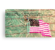 Frosting of USA's Economy Canvas Print