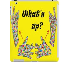 ASL What's Up? iPad Case/Skin