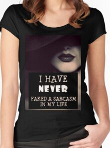 Faked A Sarcasm Women's Fitted Scoop T-Shirt