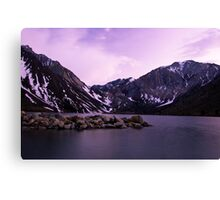 Dusk at Convict Lake Canvas Print