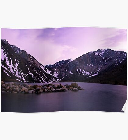 Dusk at Convict Lake Poster
