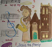 Jesus the Manly Sax Machine by Sarah Bentvelzen