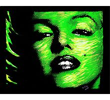 Marilyn Monroe in Green 002 Photographic Print