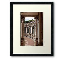 Arcade of baroque palace Framed Print