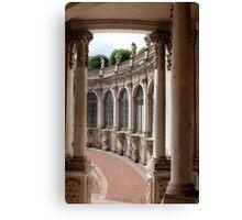 Arcade of baroque palace Canvas Print