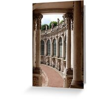 Arcade of baroque palace Greeting Card