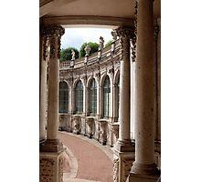 Arcade of baroque palace Photographic Print