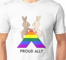 Skip & Pip (aka the Pride Bunnies) celebrate LGBT Allies Unisex T-Shirt