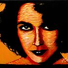 Elizabeth Taylor in orange 001 by Greg Allen