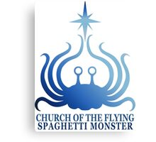 Church of the Flying Spaghetti Monster logo Canvas Print