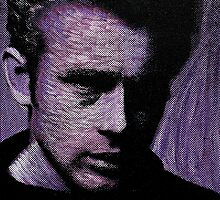 James Dean in purple 001 by Greg Allen