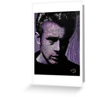 James Dean in purple 001 Greeting Card