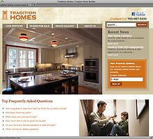 Tradition Homes Web Site by mdvia