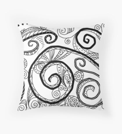 Swirls Throw Pillow