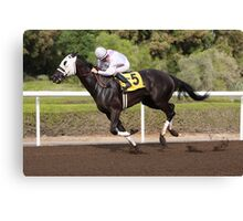 Racing Horse Canvas Print