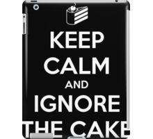 Keep Calm and Ignore the Cake iPad Case/Skin
