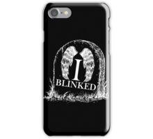 Doctor Who I Blinked Gravestone iPhone Case/Skin