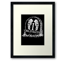 Doctor Who I Blinked Gravestone Framed Print