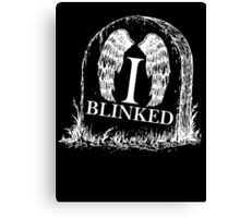 Doctor Who I Blinked Gravestone Canvas Print