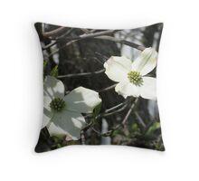 Dogwood Blooms 2 Throw Pillow