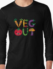 Veg Out - dark colors Long Sleeve T-Shirt
