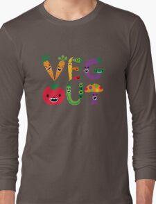 Veg Out - dark colors Long Sleeve T-Shirt