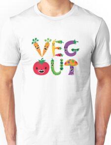Veg Out - dark colors Unisex T-Shirt
