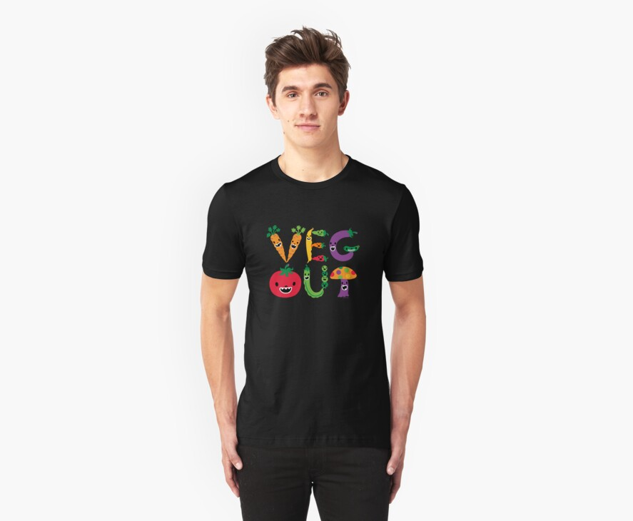 Veg Out - dark colors by Andi Bird